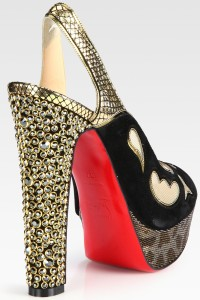 Christian Louboutin with Swarovski heels
